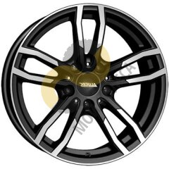 Alutec Drive 8x17 5x120  ET43 Dia72.6 Diamond Black Front Polished